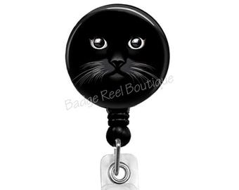 Badge Reel, Retractable Badge Holder, Badge Holder, Nurse Badge Reel, Badge, ID Badge Holder Reel Clip for Nurse Teacher RN, Cat Badge 2001A
