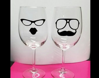 his and hers wine glass set