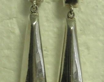 2 Set's of Vintage Silver, Abalone & Black Onyx Pierced Earrings.