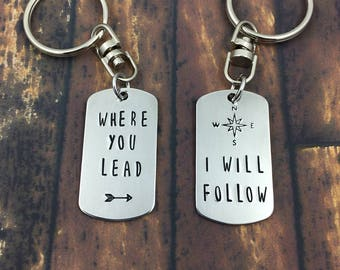 Where You Lead I Will Follow - Gilmore Girls Keychain Set