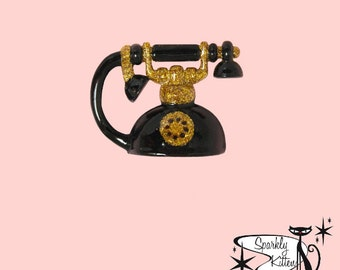 The Vintage Telephone brooch