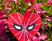 Marvel Spider-Man Peter Parker Avengers Christmas Ornament - Hand Painted Custom Holiday Gift - Hanging Home Decor