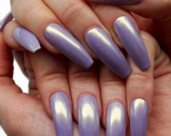LAVENDER FAIRY DUST Luxury Press On Nails