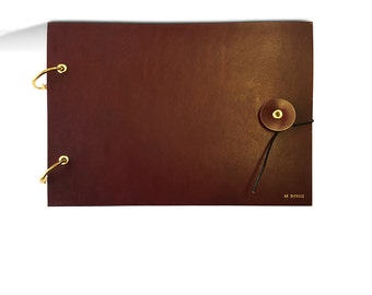 Burgundy Leather Sketchbook Cover, sketch book cover, drawing book, a5, personalized, monogrammed
