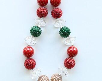 Minnie Christmas Bubblegum Necklace