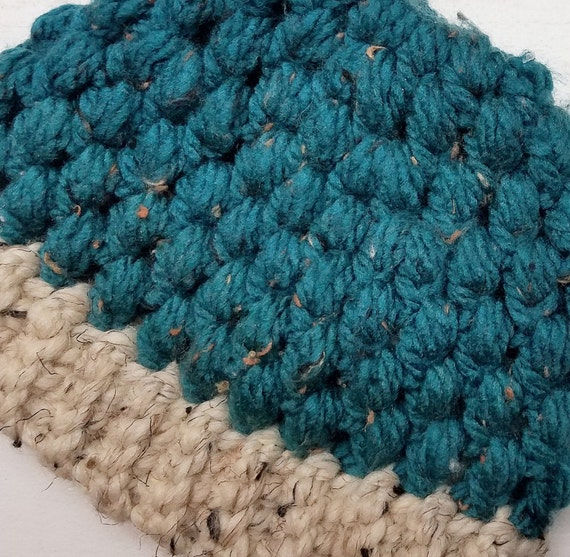 Kids Puff Stitch Ponytail Hat Kids Crochet Puff Stitch