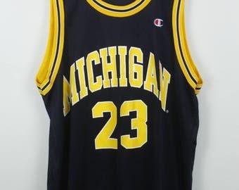 Vintage jersey, Michigan jersey, champion vintage, vintage sportswear