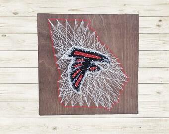 Atlanta Falcons State Sign String Art
