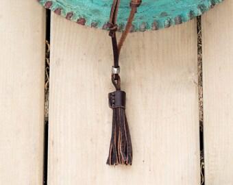 Man Necklace // Leather Necklace // Man Leather Necklace // Man Gift // Gift for Guys / Gift for Him / Beach Necklace / Necklace for Guys