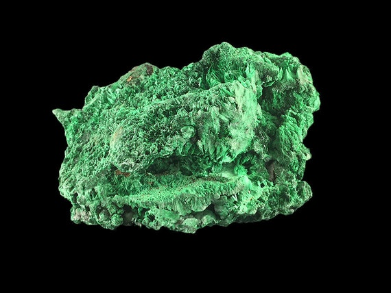 "Malachite Fibrous Crystal Cluster 4 1/2""  1 lb. 6.3 oz  Raw, Rough, Natural  from the Congo A1064"