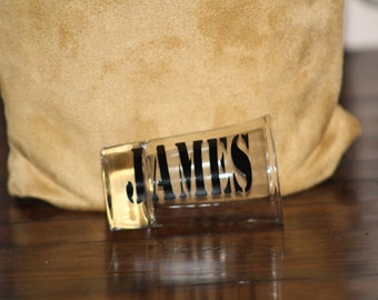 Custom Name Shotglass - Groomsman Shot Glass - Name Shotglass