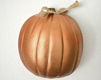 Fall Decor, Pumpkin Decor, Painted Pumpkin, Halloween Decor, Harvest Decor, Thanksgivng Decor, Hanging Pumpkin, Fall Wall Decor, Harvest Wal