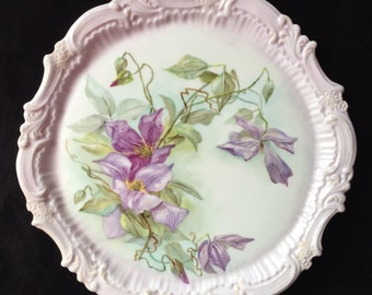 Antique Hand painted Serving Platter