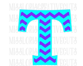 Chevron Letter monogram  T SVG Cut file  Cricut explore filescrapbook vinyl decal wood sign cricut cameo Commercial use