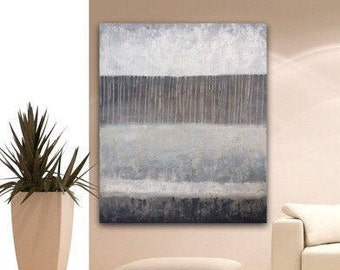 ABSTRACT PAINTING extra large  Canvas Art Large Texture Painting on Canvas brown gray white Original Wall Art by Sonja Alfreider
