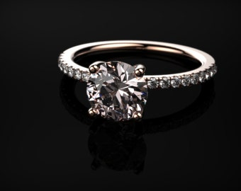 Rose Gold Morganite Engagement Ring Rose Gold Engagement Ring Morganite Engagement Ring Morganite Ring Morganite Rose Gold Engagement Ring