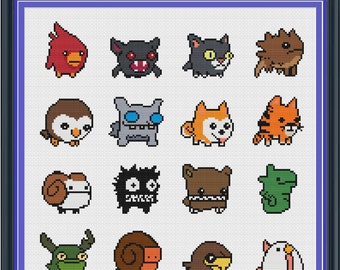 Castle Crashers Animal Orbs Cross Stitch Pattern