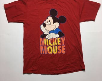 Vintage Mickey Mouse Shirt - 90s Mickey Mouse Shirt - Red Mickey Shirt - Mickey Mouse T Shirt - Mickey Mouse Shirt - 90s Mickey Shirt - XL