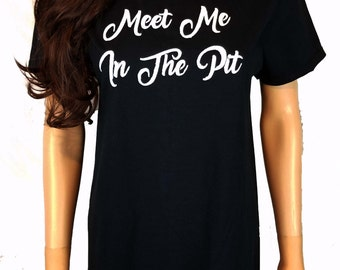 Meet Me In The Pit Painted T Shirt / Mosh Pit Concert Tee