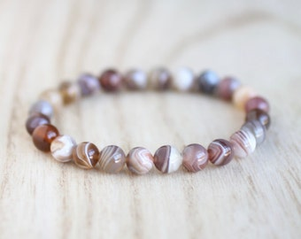 Botswana Agate Stretch Bracelet. Crown Chakra. Take Your Power Back. Quit Smoking. Release Emotions. Botswana Agate Bracelet.
