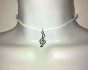 Black Choker | Suede Choker | Music Note | Treble Clef | Beam Note | Quaver | Eighth Note | Ivory White or Black