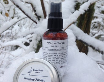 Winter Forest- Aromatherapy spray,Christmas tree spray,  room&Pillow spray, christmas tree scent, evergreen scent, all natural room perfume