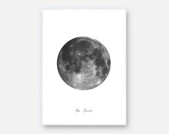 Moon Print, La lune Poster, La lune Affiche, Macro Moon Poster, Big Moon Wall Art, Moon Poster, Detail Moon Print, Moon Wall Decor