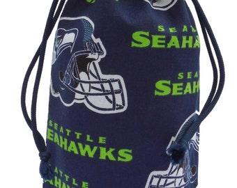 Seattle Seahawks Wine Bottle Gift Bag - Go Hawks