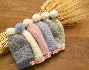 Soft alpaca baby hats