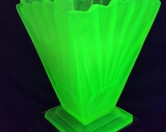 Square Glass Vase Etsy