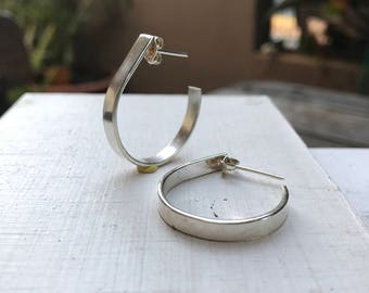Silver hoop earrings, sterling silver hoops, 100% sterling silver