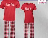 Couples Pajamas Love You ...