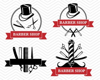 Barber shop Signs Hairstylist Cut File DXF SVG PNG eps hair vinyl decal Cricut Design, Silhouette studio, Sure Cuts A Lot, instant download