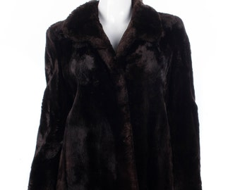 Vintage Grosvenor Canada fur coat, rich dark brown, super soft