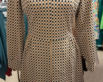 Vintage 1960s Lady Carol of New York Checkered Dress