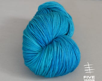 Hand dyed yarn, Wave - Sock - Merino Superwash/Cashmere/Nylon, Handdyed yarn, Hand dyed sock yarn, MCN