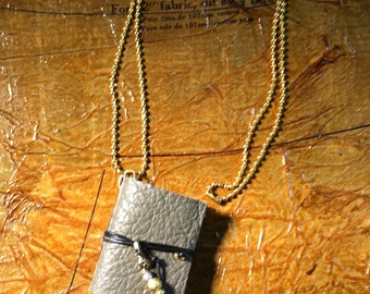 Necklace for book lovers or secret keeper
