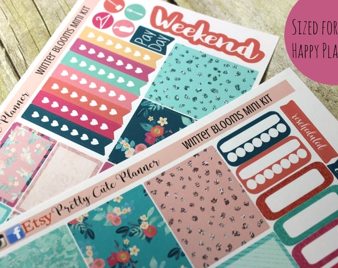 Happy Planner Stickers - Weekly Planner - Erin Condren Life Planner -  Functional stickers - Winter Bloom - Spring Stickers
