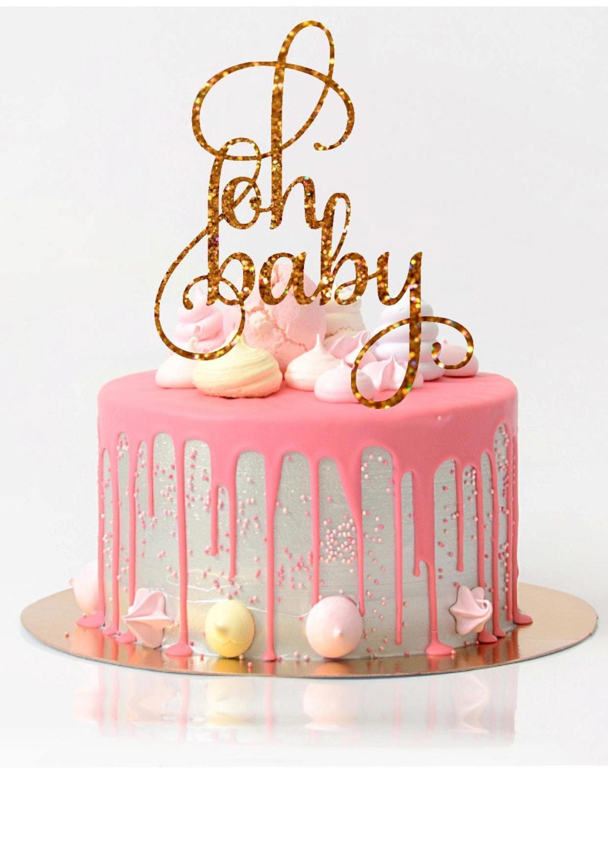 Baby Shower Cake Topper Oh Baby Cake Topper Baby Shower