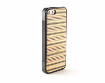Iphone 5s Wood Case - Recycled Skateboard - Iphone SE Wood - Wooden Iphone 5 Case - Hardwood Iphone Case - Iphone 5 Wood Cover -Purple -Blue