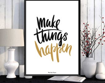 Design poster, Poster quote, Wall art decor, Typography quote, Positive quote wall, Word art, Digital typography, Modern design, Quote print