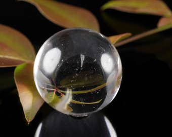 CLEAR QUARTZ Sphere - Clear Quartz Crystal, Crystal Sphere, Healing Crystal Ball, Decorative Stone Sphere, Crystal Decor E0327