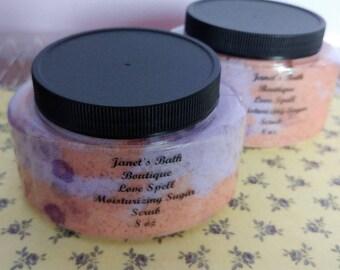 1 Love Spell / Sugar Scrub / Body Polish / Body Scrub / Emulsified Sugar Scrub / Skincare / Exfoliating / Exfoliate / Gifts For Her / Beauty