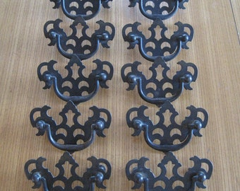 3 1 2 drawer pulls. brass drawer pulls, handles, chippendale style, set of 10, drop bail pull 3 1 2 pulls