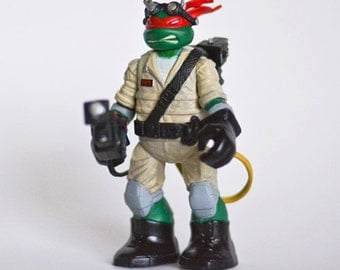 Ghostbusters Teenage Mutant Ninja Turtle Raphael Custom toy figure