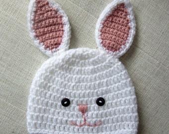 Crochet bunny hat, crochet Easter hat, bunny hat, Easter gift, crochet baby bunny hat, crochet kids hat, crochet bunny, spring baby shower