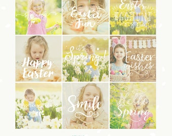 Easter Photography overlays, Spring Photography overlays, Spring overlays, Easter overlays, clipart, social media template, Easter greetings