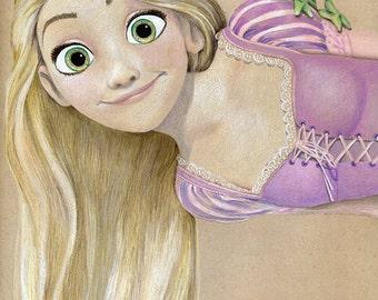 Rapnuzel Illustration - Small (Print)