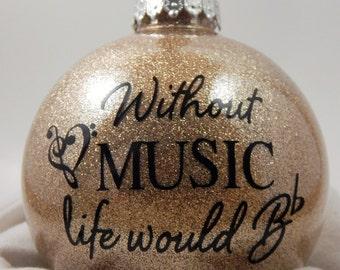 Music Ornament - Gift for Music Teacher - Music Teacher Gift - Christmas Ornament - Music Lover's Ornament - Gift for Music Lover