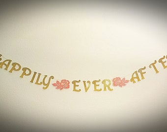 Happily Ever After Banner Fairytale Wedding